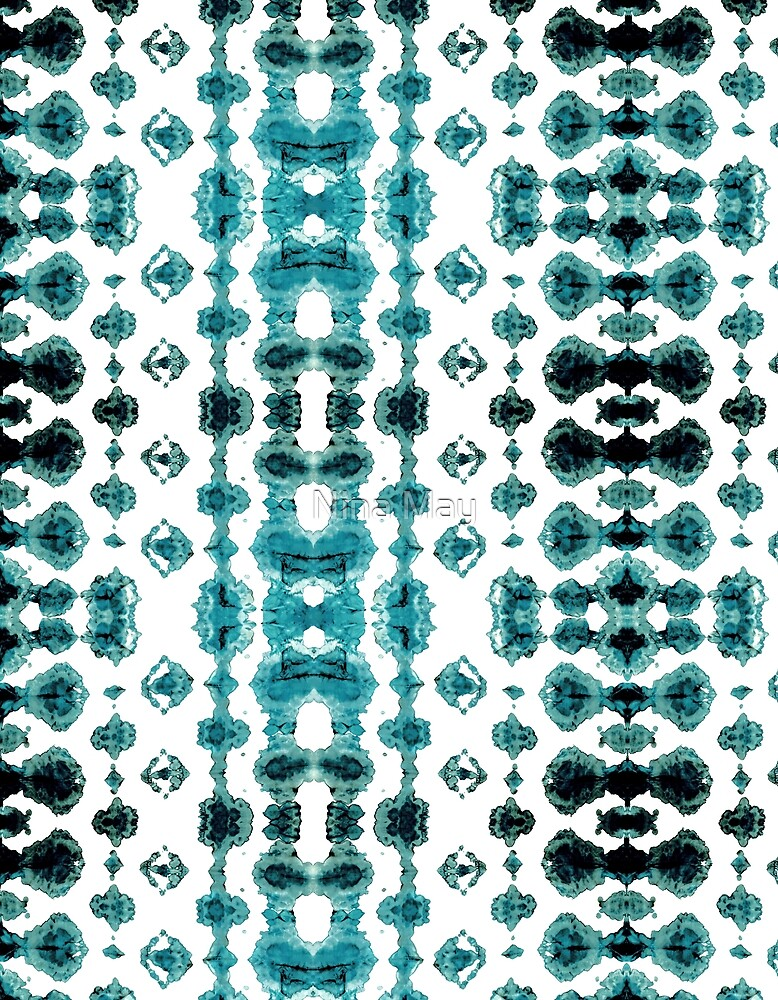 Teal Habatoi Ikat by Nina May