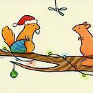 Red Squirrel Santa by zoel