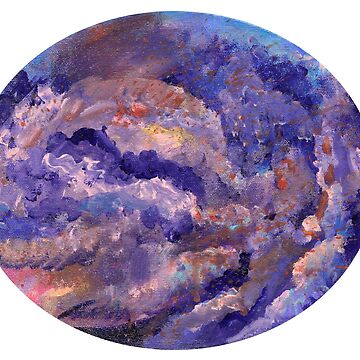 Impressionist Cloud Oval by KLoganArt