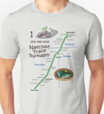 I Bicycled the Natchez Trace Parkway. Slim Fit T-Shirt