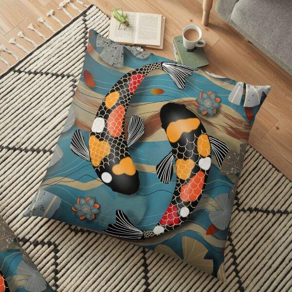 Koi Watergarden Floor Pillow
