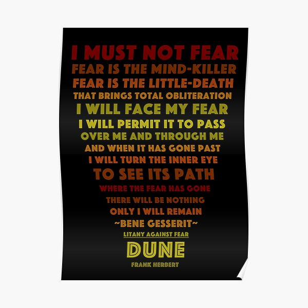 Litany Against Fear Poster