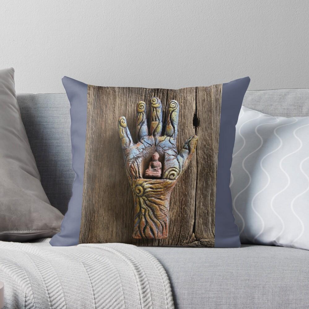 Solar Buddha Throw Pillow