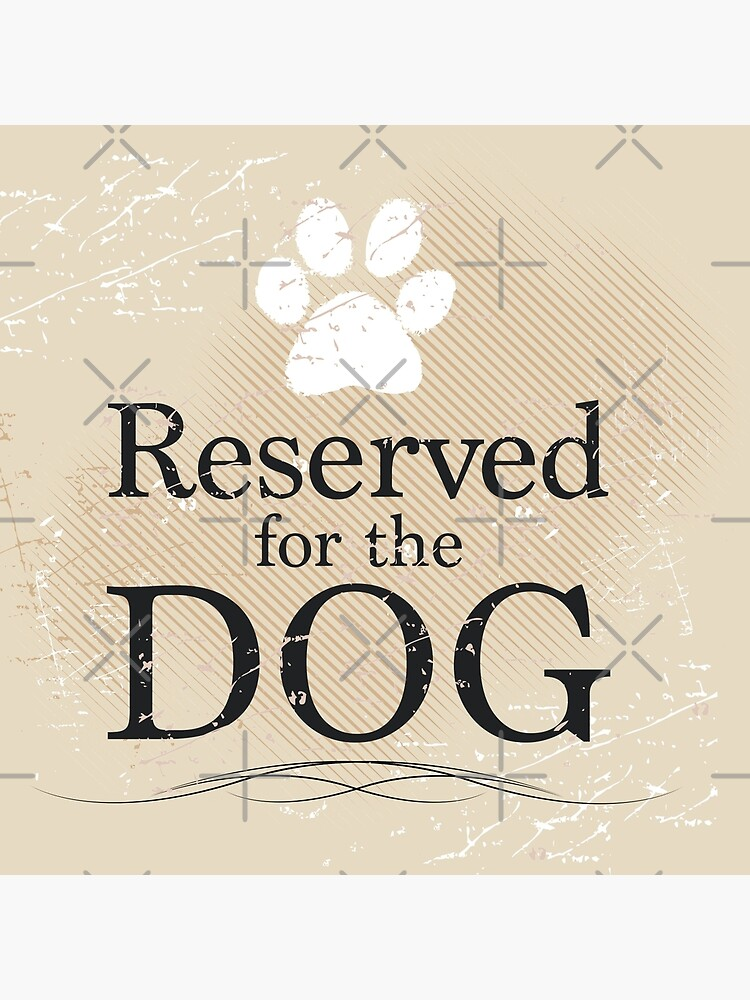 Reserved for the Dog (Tan) by rescuedogs101