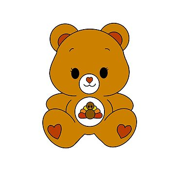 Thanksgiving Bear by TrotLOeilArt