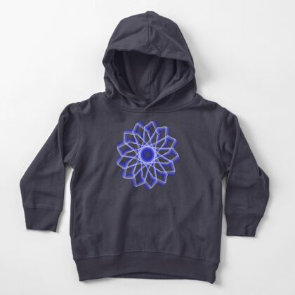 Blue Lines Abstract Flower Toddler Pullover Hoodie