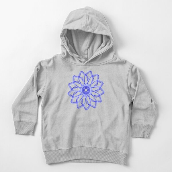 Blue Lines Abstract Geometric Flower Toddler Pullover Hoodie