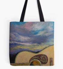 Sunset Guitar Tote Bag