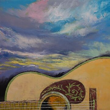 Sunset Guitar by michaelcreese