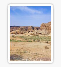 an inspiring Jordan landscape Sticker
