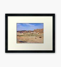 an inspiring Jordan landscape Framed Print