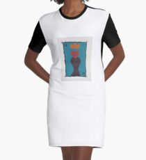 Body of A Queen Graphic T-Shirt Dress