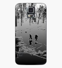 Against the cold Black and White Case/Skin for Samsung Galaxy