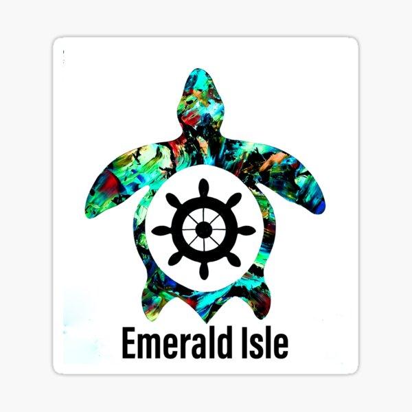 Emerald Isle Sea turtle sticker  Sticker