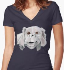 Falkor - Neverending Story - Costume Shirt Women's Fitted V-Neck T-Shirt