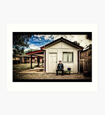 ...a man and his shed... Art Print