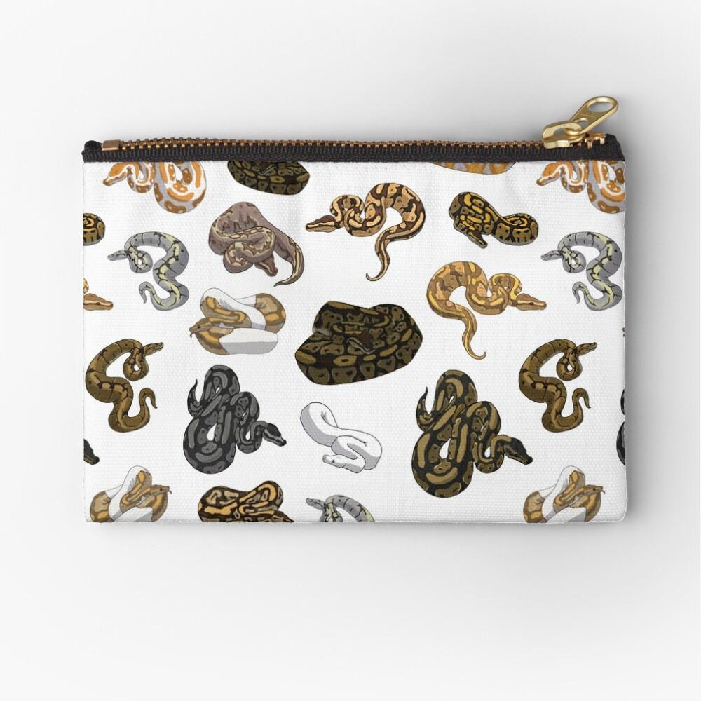 Ball Python Morph Snake Pattern Zipper Pouch