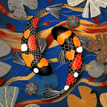 Koi Watergarden Oriental Blue by karin