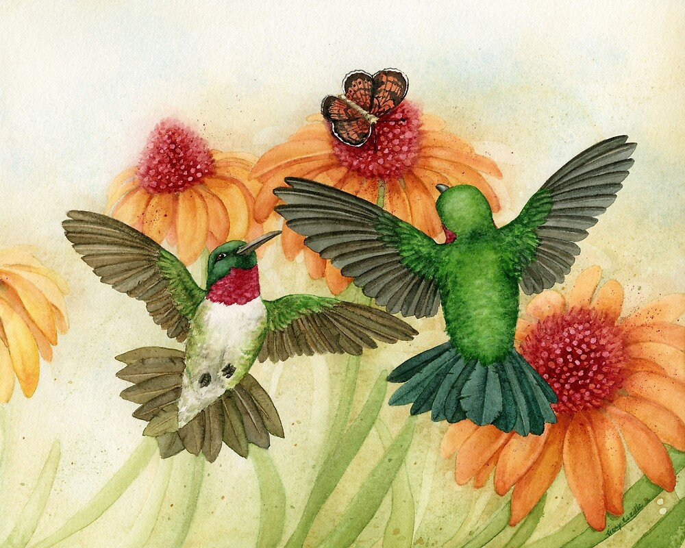 Hummingbirds by Tracy Lizotte