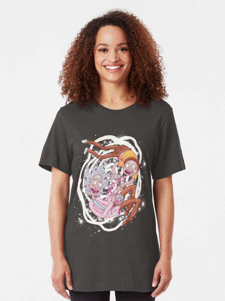 Alternate view of Rick and Morty - The Pastel Dimension Slim Fit T-Shirt