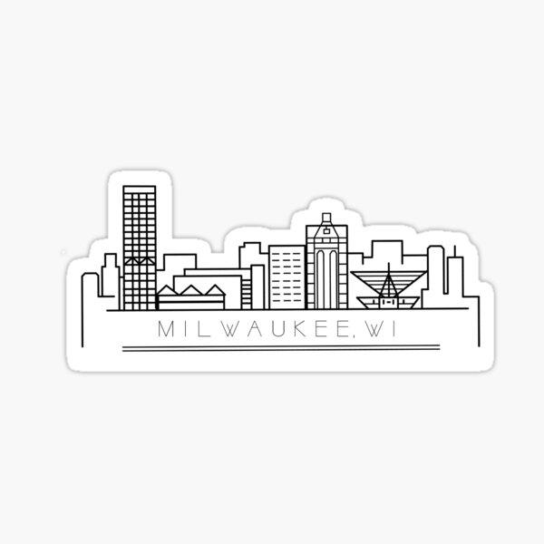 Milwaukee Skyline Sticker