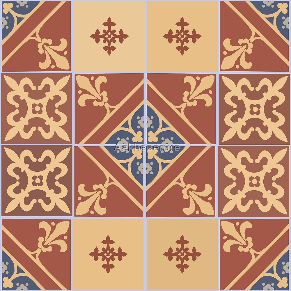 Medieval tiles: Parliament II by Aakheperure