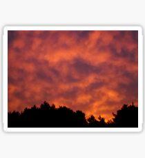 Amazing Sunset in Quebec, Canada Sticker