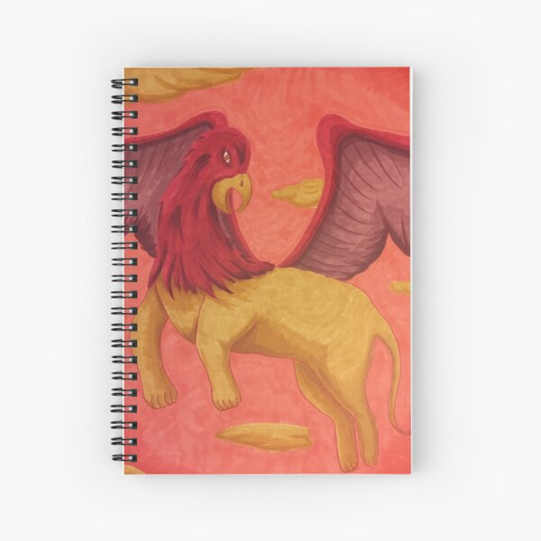 Griffin on the Wind Spiral Notebook
