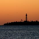 Sunrise over the Sanibel Lighthouse by Virginia N. Fred