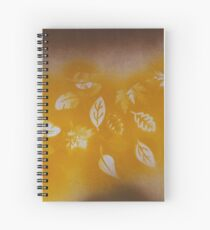 Fall Leaves Abstract Spiral Notebook