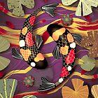 Koi Watergarden Golden Plum by Karin Taylor