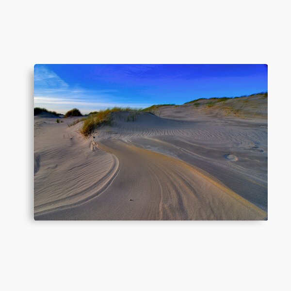 Lines and patterns in the sand Canvas Print