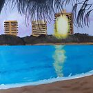 'Mooloolaba Sunset' by Amber Burrows (2018) by Peter Evans Art