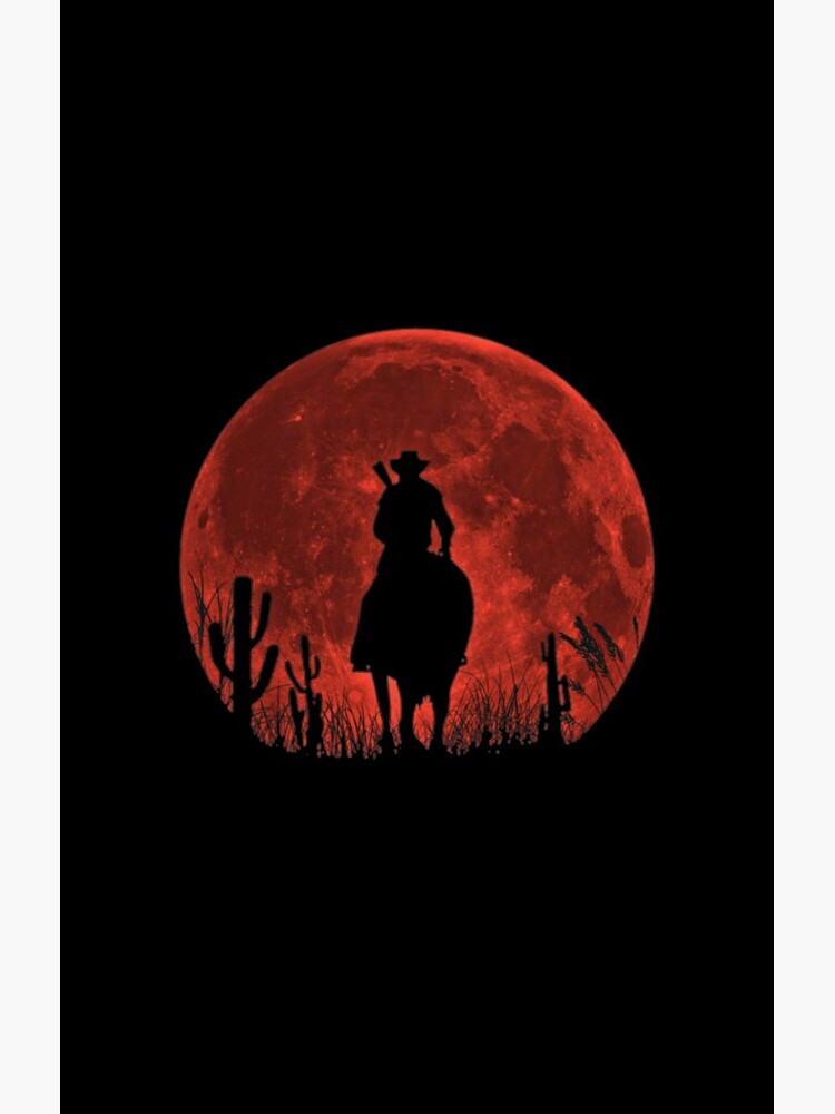 Red Dead Redemption 2-Roter Mond-Cowboy von lrsimpleprints