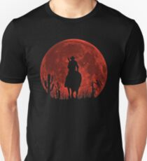 Red Dead Redemption 2-Red Moon-Cowboy Unisex T-Shirt