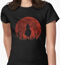 Red Dead Redemption 2-Red Moon-Cowboy Women's Fitted T-Shirt