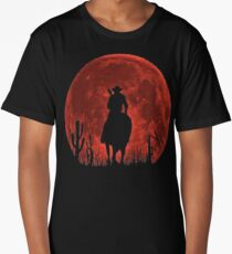 Red Dead Redemption 2-Red Moon-Cowboy Long T-Shirt