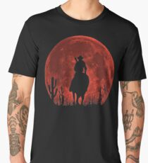 Red Dead Redemption 2-Red Moon-Cowboy Men's Premium T-Shirt