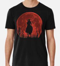 Camiseta premium para hombre Red Dead Redemption 2-Red Moon-Cowboy