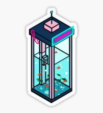 Vaporwave Phonebooth Sticker