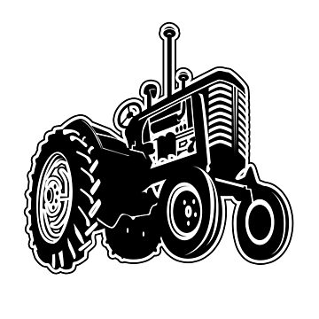 BLACK AND WHITE GRAPHIC RANGE BY ISKYBIBBLLE - TRACTOR  by Iskybibblle