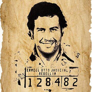 King Pablo Escobar old paper by Desenatorul1976