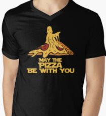 May The Pizza Be With You Men's V-Neck T-Shirt