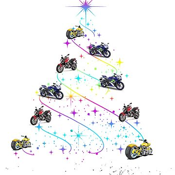 Sportbikes and Softtails Motorcycle All I want for Christmas by antzyzzz