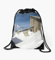 Explorer hut - Antarctica Drawstring Bag