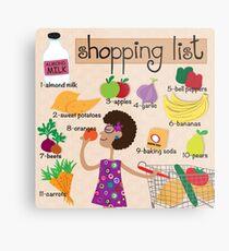 Food Shopping Metal Print