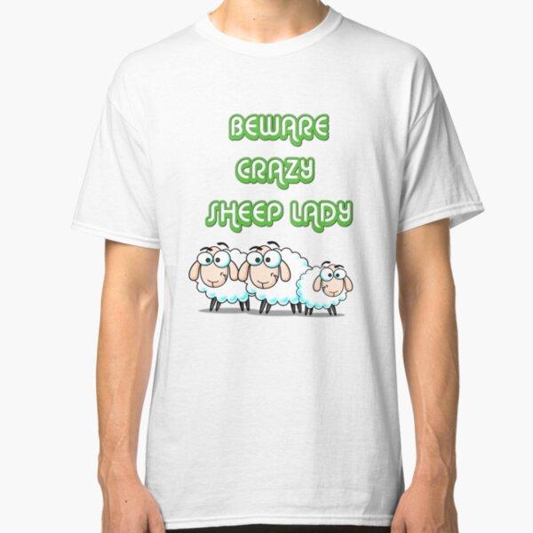 Crazy Sheep Lady Classic T-Shirt