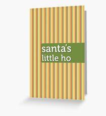 Santa's Little Ho Greeting Card