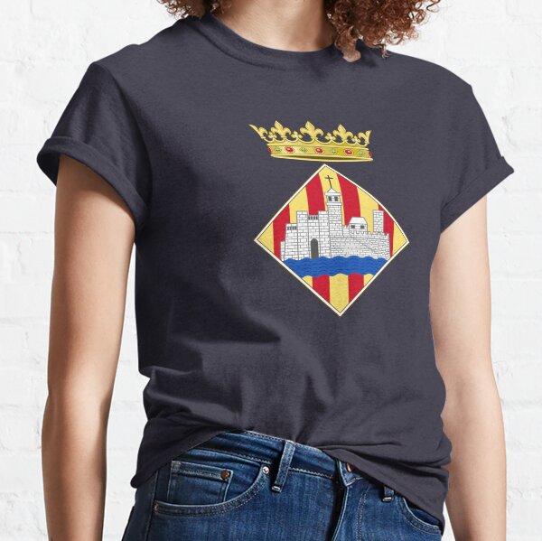 Spanien) Die acht Rosetten der Bärenreithose der spanischen Königskronenblätter wurden durch die Rosetten der Krone ersetzt, die von ehemaligen Aragonse-Monarchen verwendet wurden. Español: Escudo de Ciudadela (Menorca) Classic T-Shirt