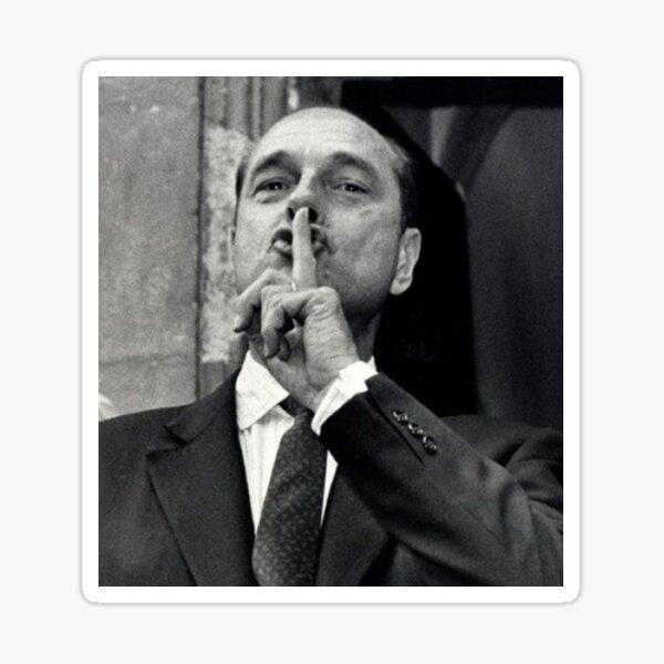 Jacques Chirac - chut !  Sticker